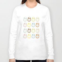 clocks pattern Long Sleeve T-shirt