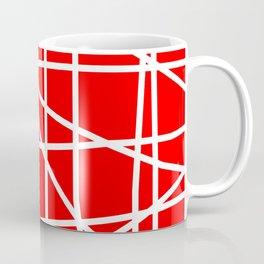 Doodle (White & Red) Coffee Mug