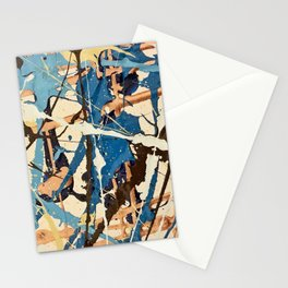 Miniature Original - blue brown Stationery Cards