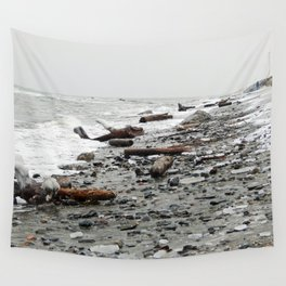 Driftwood Beach after the Storm Wall Tapestry