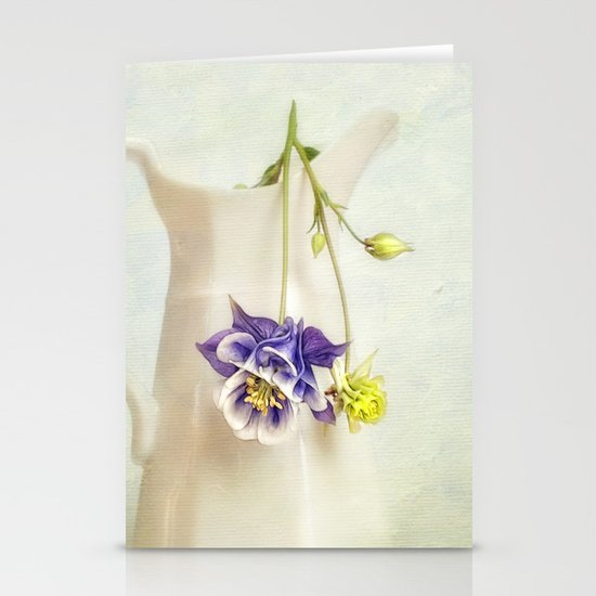 still life with Aquilegia Stationery Cards