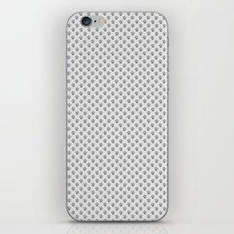 Tiny Paw Prints - Grey on Light Silver Grey iPhone Skin