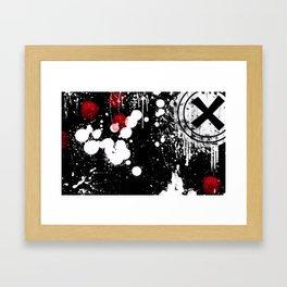 Splattered Framed Art Print
