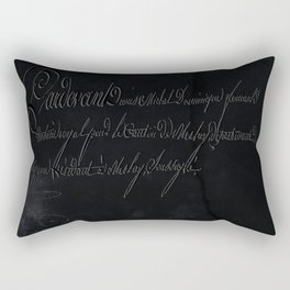 vintage stone throw deep board script texture Rectangular Pillow
