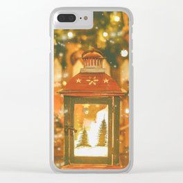 Christmas Lantern. Clear iPhone Case