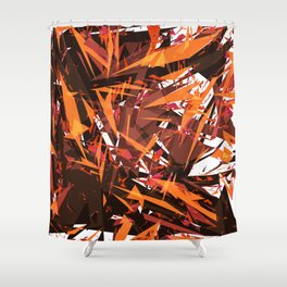 red & spiky Shower Curtain