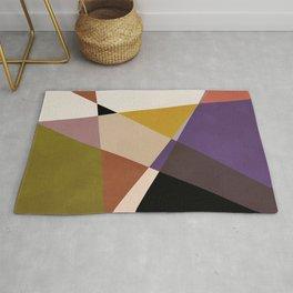 mid century abstract geometric autumn 1 Rug