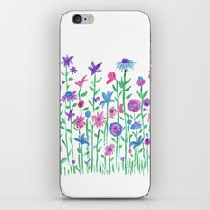 Cheerful spring flowers watercolor iPhone Skin
