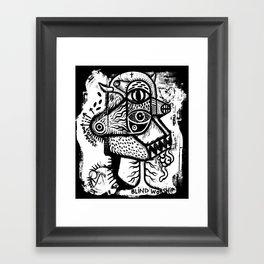 Blind worship - the print Framed Art Print