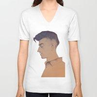 alex turner V-neck T-shirts featuring Alex Turner by tangledribbons