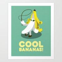 Cool Bananas! Art Print