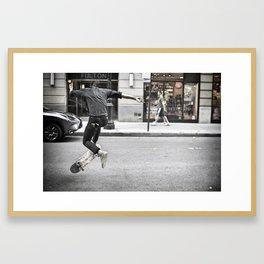 Mid-Air Skater Framed Art Print