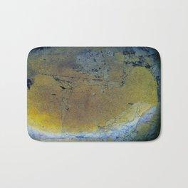 Black Gold Leaf Bath Mat