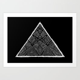 Root Two Triangle  Art Print