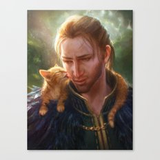 Anders and Ser Pounce-a-Lot Canvas Print