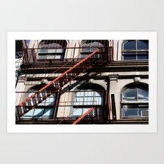 Between lines Art Print