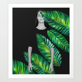 LeafGurl Art Print