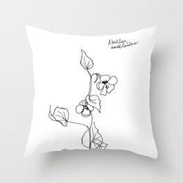 Abutilon abutiloides Throw Pillow
