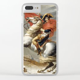 Bonaparte Crossing the Alps Clear iPhone Case