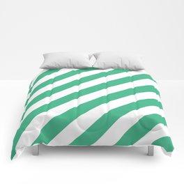 Diagonal Stripes (Mint/White) Comforters
