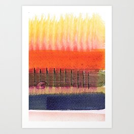 Painterly Stripes 9 Art Print
