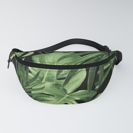 Tropical Jungle Night Leaves Pattern #5 #tropical #decor #art #society6 Fanny Pack