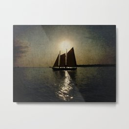 Sailing at twilight Metal Print