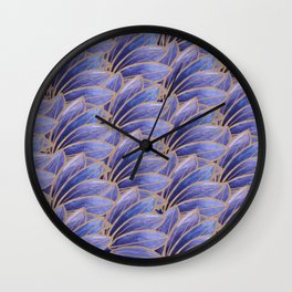 Art nouveau leaves Wall Clock