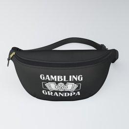 Poker Player Gambling Grandpa Casino Chip Men Fanny Pack