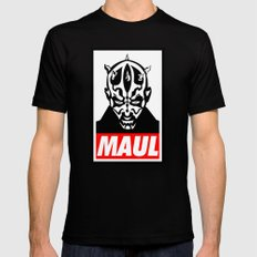 Obey Darth Maul (maul text version) - Star Wars Black Mens Fitted Tee LARGE
