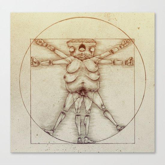 Vitruvian Slob Canvas Print