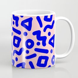 Doodle Pattern - Pink and Electric Blue Coffee Mug