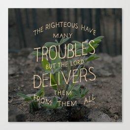 Psalm 34 Canvas Print