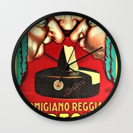 Vintage Parmigiano Reggiano Bertozzi Cheese Advertisement Wall Art Wall Clock