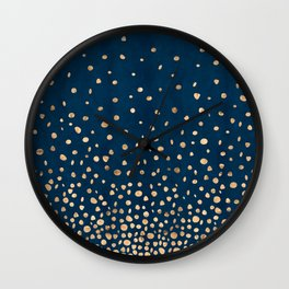 Gradual Confetti - PrussianBlue Wall Clock