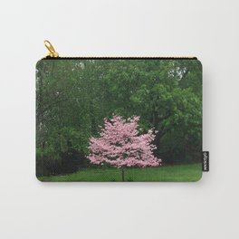 Pink Cherry Tree in a Sea of Green Carry-All Pouch