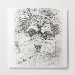 "Pencil Sketch ""Sophie"" our Puppy Metal Print"