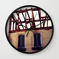 building Wall Clocks featuring Building by PerfectPixel