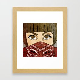 A Girl & A Gun Framed Art Print