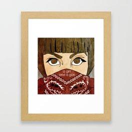 A Girl & A Gun Framed Art Print