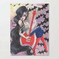 marceline Canvas Prints featuring Marceline by Kayla Adams