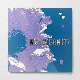 Waveternity Blue Metal Print