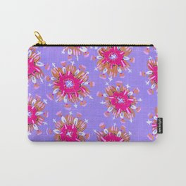 Pink Christie Rose Carry-All Pouch
