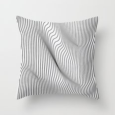 Minimal Curves Throw Pillow