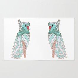 The parrot a la cockatoo Rug