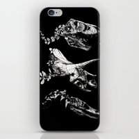trex iPhone & iPod Skins featuring Jurassic Bloom - Black version. by Sinpiggyhead