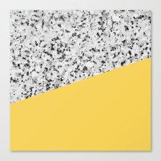 Granite and primrose yellow color Canvas Print