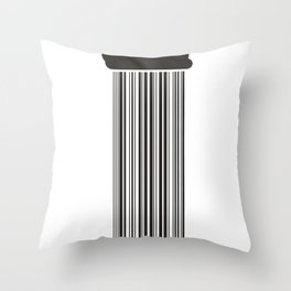 Barcode Rain Throw Pillow