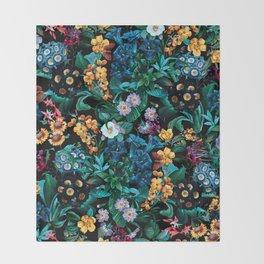 Midnight Garden VII Throw Blanket