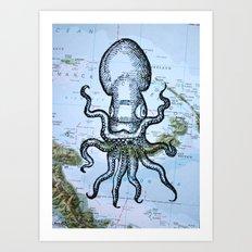 Octopus in the Solomon Sea Art Print